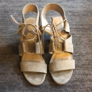 Merona heeled sandals with ankle ties - Size 10